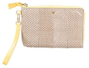 Tory Burch Embossed Wristlet Clutch - BROWN - STYLE
