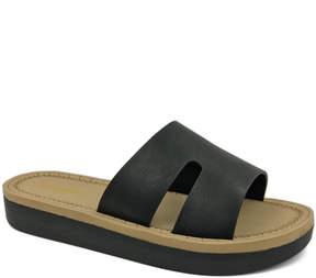 Bamboo Black Upraise Slide - Women
