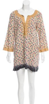 Calypso Long Sleeve Knit Mini Dress