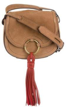 Tory Burch Nubuck Saddle Bag - BROWN - STYLE