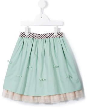 Familiar bow detail tutu style skirt