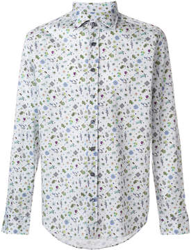 Etro tropical embroidered shirt