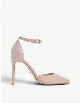 Dune Dixey snake-embossed leather courts