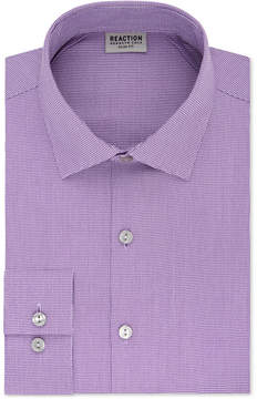 Kenneth Cole Reaction Men's Slim-Fit Flex Collar Three-Way Stretch Performance Unsolid Dress Shirt