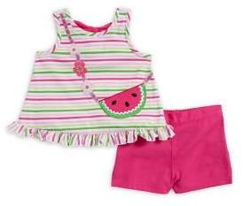 Kids Headquarters Baby Girl's Two-Piece Watermelon Tank & Shorts Set