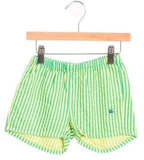 Bobo Choses Girls' Striped Woven Shorts