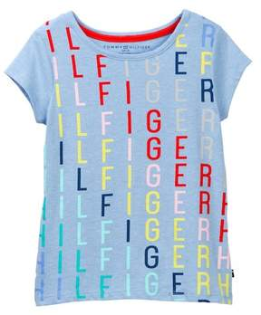 Tommy Hilfiger Rainbow Logo Tee (Big Girls)