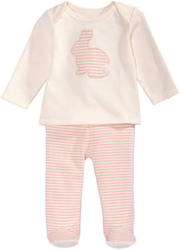 First Impressions 2-Pc. Cotton Bunny T-Shirt & Footed Pants Set, Baby Girls (0-24 months), Created for Macy's