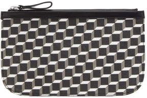 Pierre Hardy Black & White Medium Cube Perspective Pouch