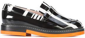 Carven stripe detail loafers