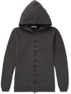 Nonnative Coach Over-Dyed Fleece-Back Cotton-Jersey Zip-Up Hoodie