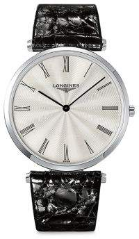 Longines La Grande Classique de Stainless Steel and Leather Strap Analog Watch