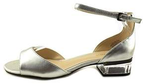Nine West Womens Volor Leather Open Toe Casual Ankle Strap Sandals.