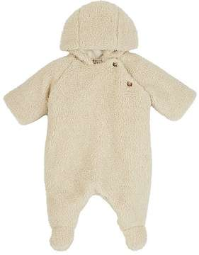 Bonpoint Fuzzy Faux-Shearling Hooded Snowsuit
