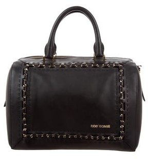 Roberto Cavalli Chain & Leather Satchel