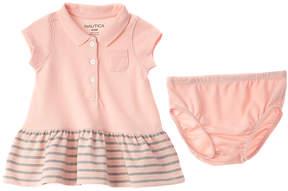Nautica Girls' Pink 2Pc Dress & Bottom Set