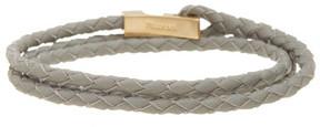 Miansai Ipsum Braided Leather Wrap Bracelet