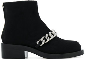 Givenchy chain flat ankle boots