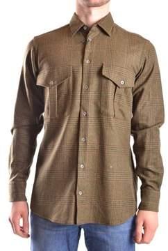 Peuterey Men's Green Wool Shirt.