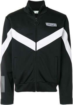 Off-White zig zag print zipped sweater