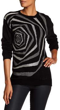 Desigual Crew Neck Rose Sweater