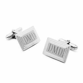 Accessories Engravable Stair Rectangular Cufflinks