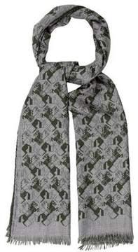 Hermes Courbettes Cashmere & Silk-Blend Muffler