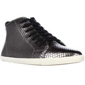 Marc Jacobs Marc By Cara Hi Top Lace Up Fashion Sneakers, Gunmetal.