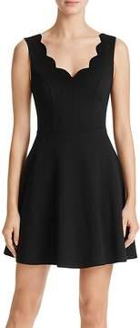Aqua Scallop Fit-and-Flare Dress - 100% Exclusive