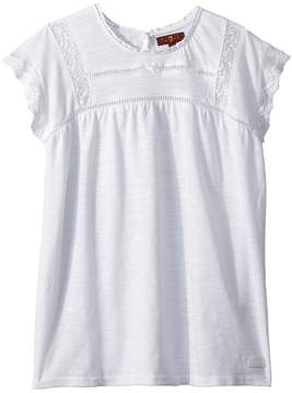 7 For All Mankind Kids Lace Tee Girl's T Shirt