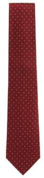 BOSS Hugo  Tailored Polka Dot Dobby Italian Silk Tie One Size Red