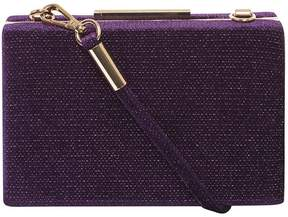 Purple Velvet Sparkle Clutch Bag