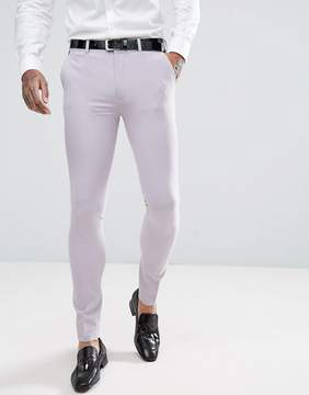 Asos Wedding Super Skinny Tuxedo Suit Pants in Dusky Lilac