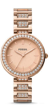 Fossil Karli Three-Hand Rose Gold-Tone Stainless Steel Watch
