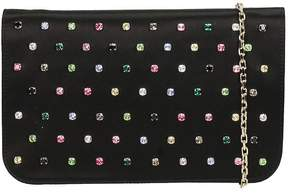 RED Valentino Black Satin Clutch Bag