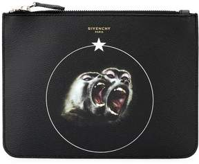 Givenchy Monkey Brothers printed clutch