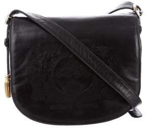 Bottega Veneta Leather Logo Crossbody Bag