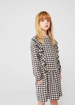 MANGO Two-pocket check dress