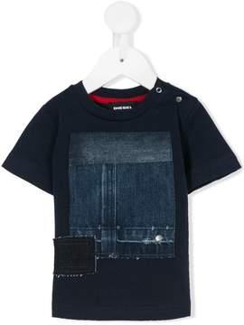 Diesel denim patch T-shirt