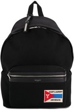 Saint Laurent City backpack with pocket patch