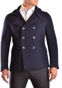 Armani Collezioni Men's Blue Wool Coat.