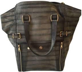 Saint Laurent Downtown leather handbag - GREY - STYLE