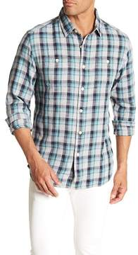 Grayers Trevor Long Sleeve Plaid Print Regular Fit Woven Shirt
