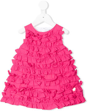 Simonetta ruffled flared dress