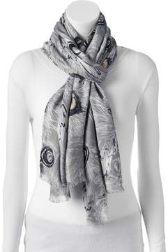 Apt. 9 Peacock Feathers Pashmina Oblong Scarf