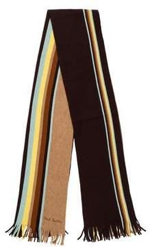 Paul Smith Striped Virgin Wool Scarf