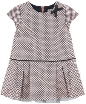 Jean Bourget Jacquard dress with lurex thread