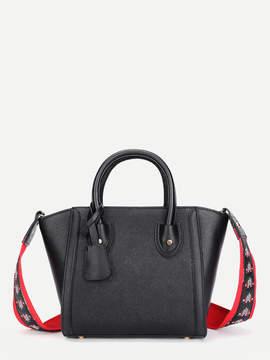 Shein Shoulder Bag With Embroidered Strap