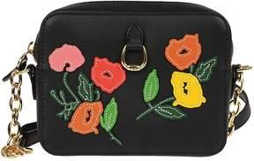 Ralph Lauren Flower Embroidered Shoulder Bag