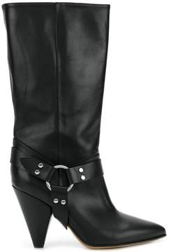 Buttero high ankle boots with ring detail